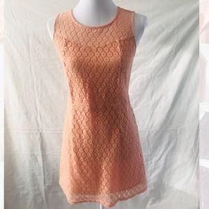 Forever 21 sleeveless Lace/Crochet Dress - Salmon